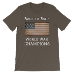 BACK TO BACK WORLD WAR CHAMPS SHORT SLEEVE SHIRT