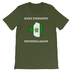 MAKE ZIMBABWE RHODESIA AGAIN SHORT SLEEVE SHIRT