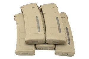 MAGPUL GEN 3 5.56 WINDOWED 5 PACK  MEDIUM COYOTE TAN